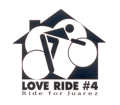 Logo for a non-profit bike race fundraiser